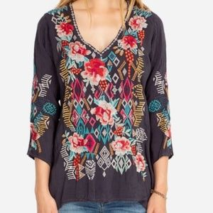 Nwt Johnny Was embroidered t blouse S medium w